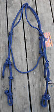 PROFESSIONALLY MADE KNOTTED 2 EARRED WESTERN BRIDLE HEAD 35 COLOURS