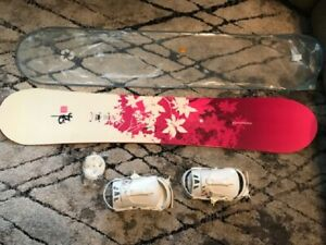 Womens Girls Rossignol Temptation Snowboard 148 cm with Zena Bindings and Case
