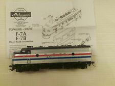 Athearn HO F7 Amtrak #487 Locomotive, runs great!!