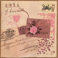 2 single paper napkins decoupage collection Serwetki Text Letter Retro Post Card