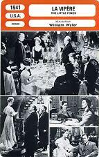 Fiche Cinéma. Movie Card. La vipère / The little foxes (USA) William Wyler 1941