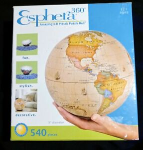 Esphera 360 3-D Antique Globe Plastic Puzzle Ball 540 Pcs Complete Free Shipping