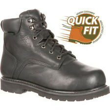 LEHIGH Safety Shoes Unisex Steel Toe Met Guard Black WORK BOOTS - 10