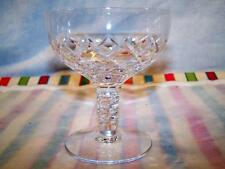 Beau by Stuart Cut English Crystal Champagne or Tall Sherbet Goblet 7 Available