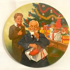 Norman Rockwell Collector Plate GRANDPOP AND ME 1981 Christmas