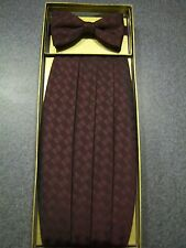 New Burgandy Silk Formal Cummerbund & Bow tie set - men's one size fits most*