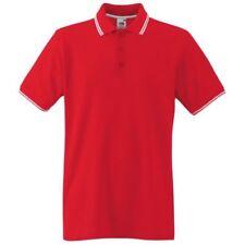 Polos de hombre rojo color principal blanco
