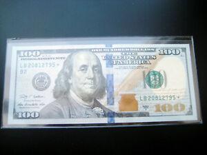 $100 2009 A***LB STAR***FEDERAL RESERVE NOTE CHOICE UNC GEM BU NOTE