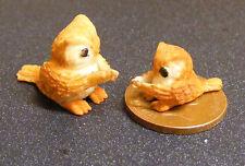 1:12 Polymer Clay Parent & Baby Brown Owl Dolls House Miniature Garden Bird D