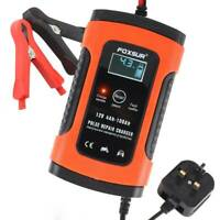 Car Battery Charger 12V Automobile Motorcycle Intelligent Pulse Repair LCD Kit