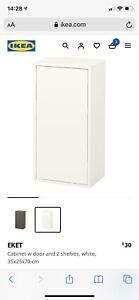 IKEA Eket Cabinet White 35x25x70 *NEW* RRP £30