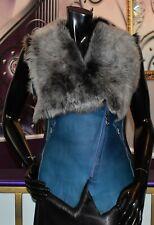 a23620a3ea22f4 Luxus Designer Damen Lammfellweste mit Toskana Fell Winterweste Gr 36 NEU