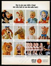 1965 Mattel toys Tatters doll T-Bone dog Mr. Ed Larry the Lion Baby Cheryl ad