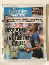PARISIEN DIMANCHE 15 07 18 COUPE MONDE RUSSIE FRANCE CROATIE DECROCHEZ 2E ETOILE