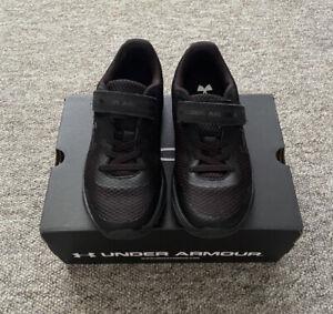 Under Armour kids UA PS Surge 2 AC black trainers UK 1
