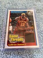 Limited Edition LeBron James Game Worn Jersey. Panini Donruss card. Lakers MINT