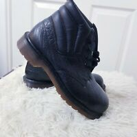Dr Martens Original VINTAGE MADE IN ENGLAND Boots Size 6 Black Steel Toe Texture