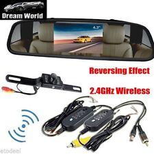 4.3inch Car TFT LCD Monitor Mirror+Wireless Reverse Car Rear View Camera Kit SC