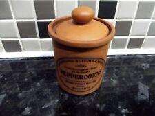 Henry Watson Terracotta herb jar Peppercorns