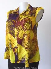 VERONIKA MAINE Size 14 - 16  US 10 - 12 Sleeveless Blouse Made in Australia