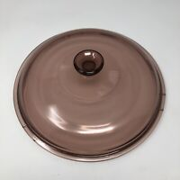 """Pyrex Cranberry Replacement Lid 10.5"""" Round Visions CorningWare"""