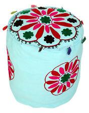 Handmade Blue Ottomans