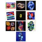 Victor Vasarely(1908-1997)-Hommage Al'hexagone Portfolio-10 Heliogravure Prints