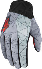 ICON ANTHEM BLENDER Dual Sport Motorcycle Gloves (Grey/Red) L (Large)