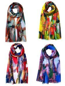 Colorful Oil Painting Print Scarf Lightweight Super Soft  Premium Pretty Hijab