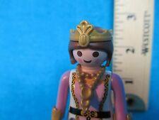Playmobil figure QUEEN IN LAVENDER WHITE & GOLD W/ CROWN + NECKLACE 1987