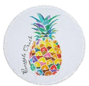 3D Ananas Muster ZHU124 Sommer Plüsch Fleece Decke Picknick Strand Handtuch
