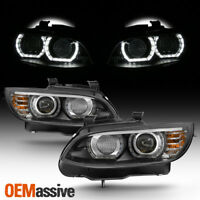 HID/Xenon For 07-10 BMW 328i 335i 3-Series Coupe LED Projector Black Headlights