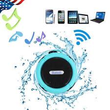 Wireless BT Stereo Speaker Waterproof MP3 Player Shower Loud Radio Suction Cup