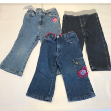 Lot of 3 Baby Girl Jeans 18-24 Month Rugged Bear, Wonder Kids, Flapdoodles