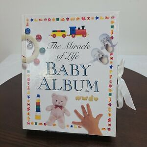 Vintage Tyndale The Miracle Of Life Baby Photo Album Hardcover Memory Book 1999