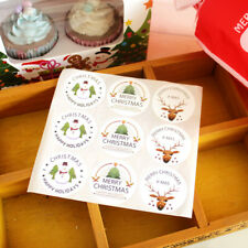 90pcs/10 Sheets Christmas Envelope Seal Sticker Gift Label Stickers Decorations