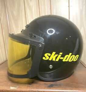 Vintage Ski Doo Snowmobile CKX Helmet with Brim Shield & Face Covering