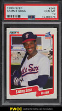 1990 Fleer Sammy Sosa ROOKIE RC #548 PSA 10 GEM MINT