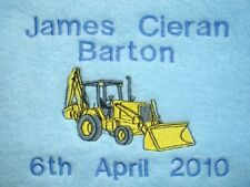 PERSONALISED BLANKET, Digger design