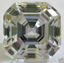 10 X  10mm 6.50 ct ASSCHER Cut Sim Diamond, Lab Diamond WITH LIFETIME WARRANTY