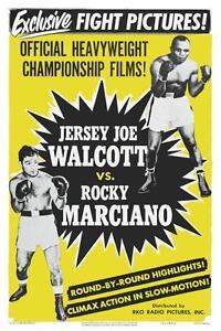 Rocky Marciano vs Jersey Joe Walcott **LARGE POSTER** Boxing Championship 1952