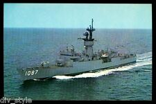 USS Kirk DE-1087 Postcard US Navy Ship Ocean Escort Destroyer