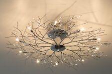 Plafonnier à 10 branches Lampe de salon moderne Lampe suspension argentée 28726