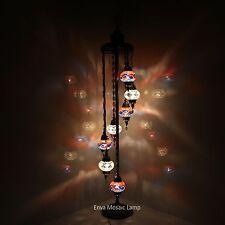 Turkish Moroccan Style Mosaic Multicolour Floor Lamp Light 7 Medium Globe