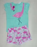 Gymboree Girls Flamingo Tee Shorts 18-24  NWT