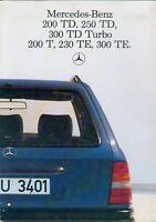 3320MB Mercedes 124 200 TD -300 TE Prospekt NL 1985 11/85 brochure prospectus