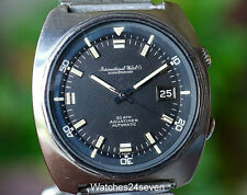 IWC Aquatimer Automatic Date, T Dial on Bracelet, Vintage Circa 1970's Ref 816AD