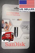 BRAND NEW SanDisk 256 GB Ultra USB 3.0 Keychain Flash Drive SDCZ48-256G-A16S 256