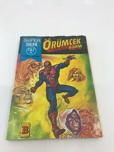 SPIDERMAN #21 #22 Turkish Comic Book 1980s MARVEL COMICS Ultra Rare PETER PARKER