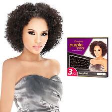 Outre Premium Purple Pack 3PCS Human Hair Blend Weaving Extension - Jerry Curl
